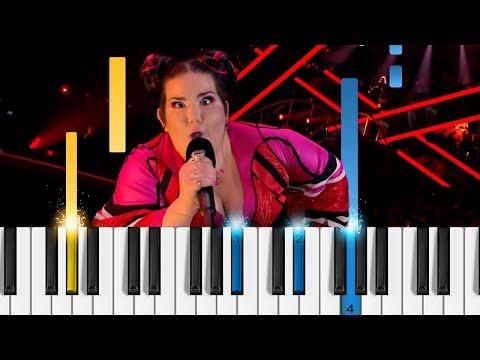 Netta - TOY - Easy Piano Tutorial - Eurovision 2018