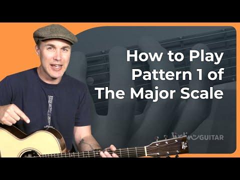 The Major Scale: Pattern 1   JustinGuitar com