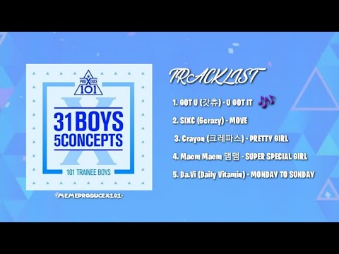[FULL ALBUM] PRODUCE X 101 31 BOYS 5 CONCEPTS