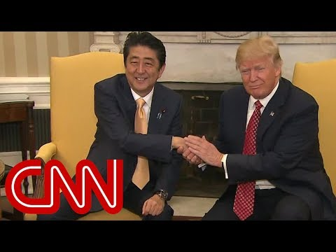 Trump's awkward handshakes with world leaders