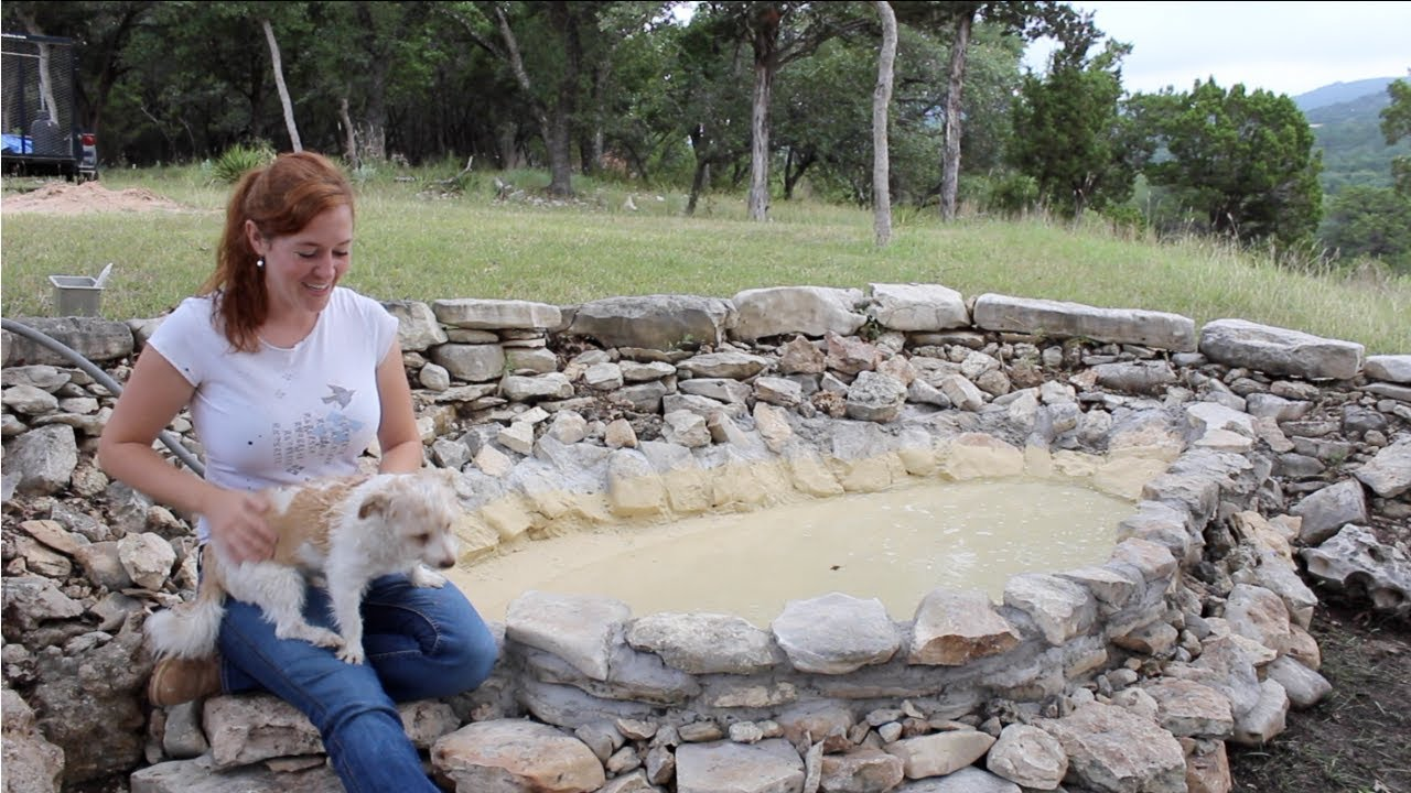 Building A Dog Pool Out Of Rock Youtube