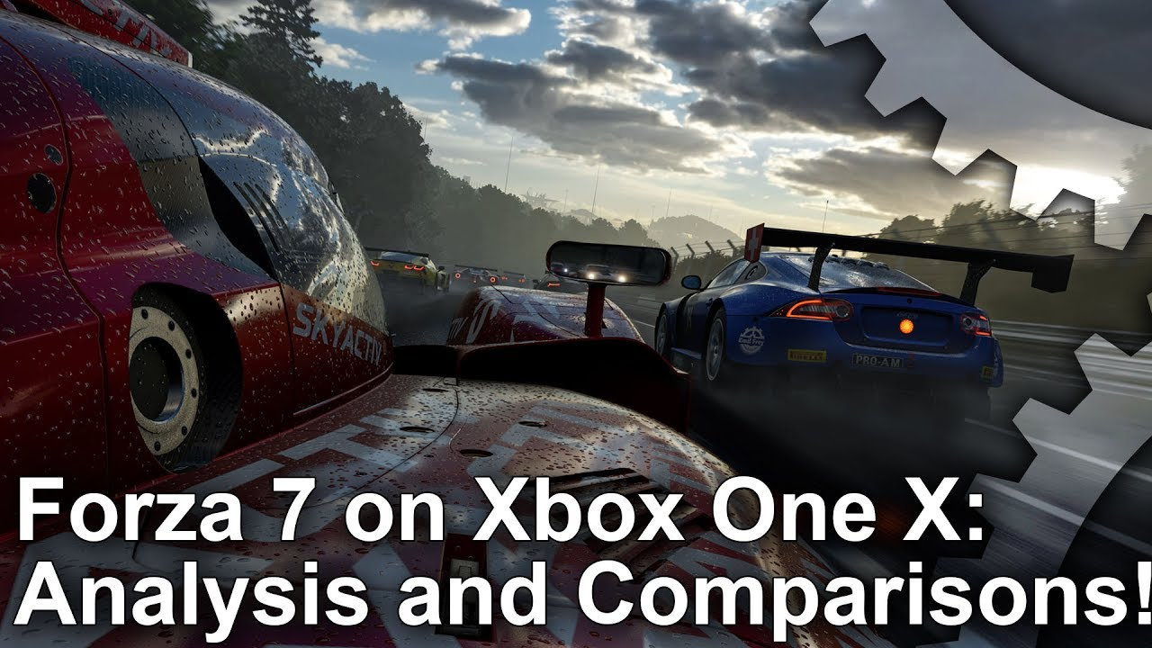 4k forza motorsport 7 xbox one x analysis forza 6 pc xbox one graphics comparison youtube. Black Bedroom Furniture Sets. Home Design Ideas