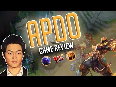 APDO vs Rank 1 OCE Phantiks | Azir vs Ryze game review