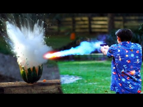 Thumbnail: Shooting Watermelons with 'Exploding' Sodium Bullets!