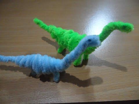 Pipe Cleaner Crafts - Dinosaur Brachiosaurus