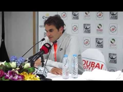 Roger Federer press conference, Dubai Duty Free Tennis Championships 2015