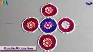 Innovative Creative Easy Rangoli Design 002