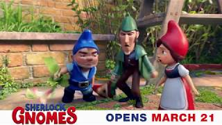 Prepare for gnome-stop action and fun! #SherlockGnomes