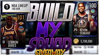 5 MILLION COIN BUILD MY SQUAD IN NBA LIVE MOBILE GIVING THIS ACCOUNT AWAY AT 6K SUBS!!! 100 Ovr team