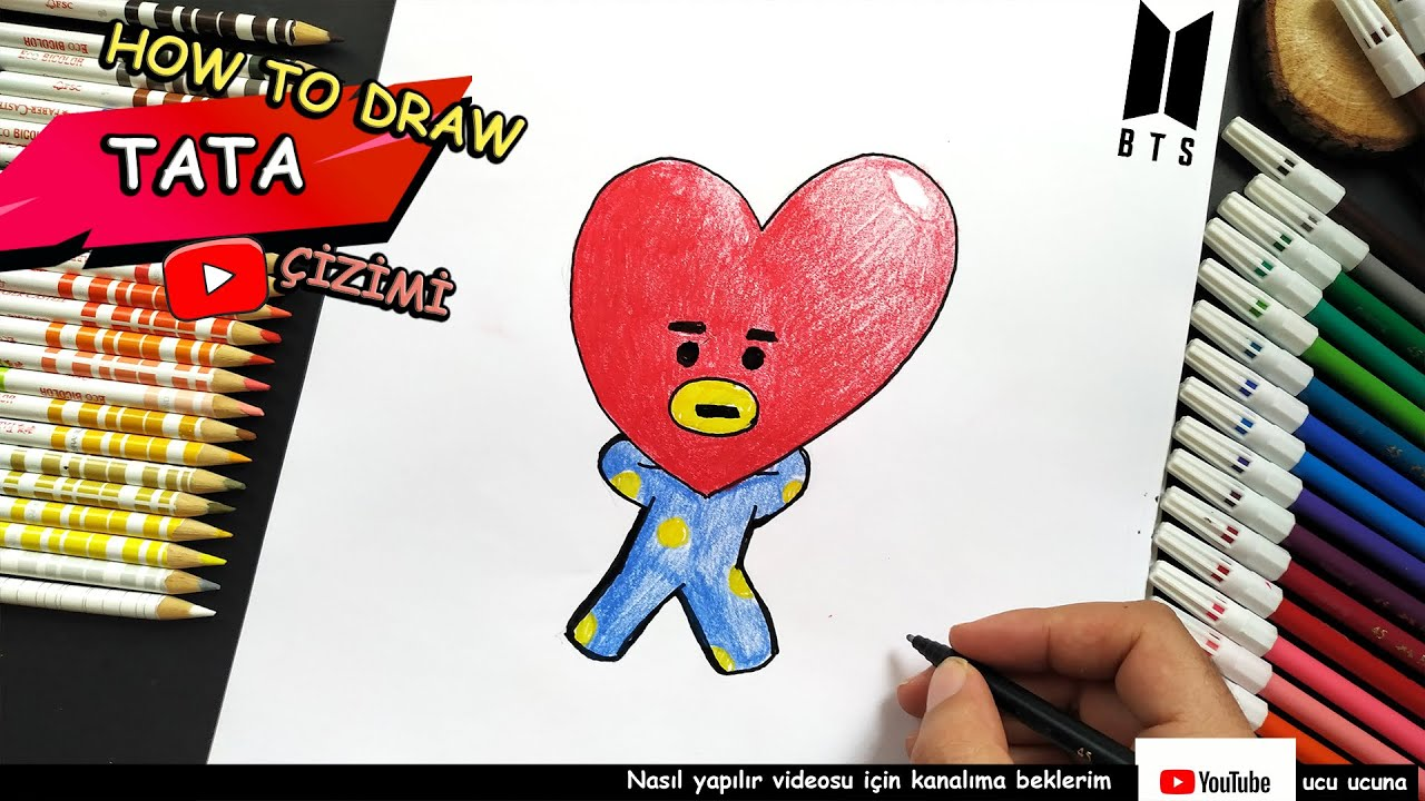 HOW TO DRAW TATA BT21 | BTS - YouTube