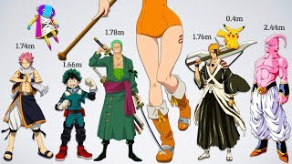 Ultimate Size Comparison of Anime Characters