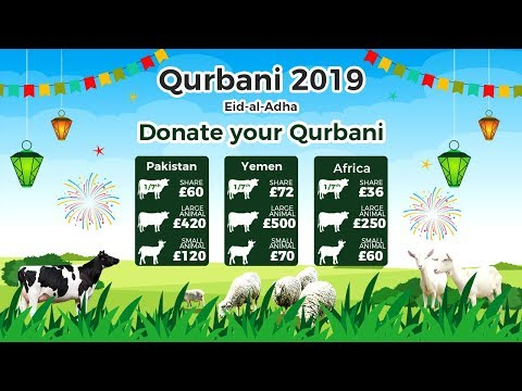 Qurbani Appeal 2019 - Share For £36, Small Animal For £60