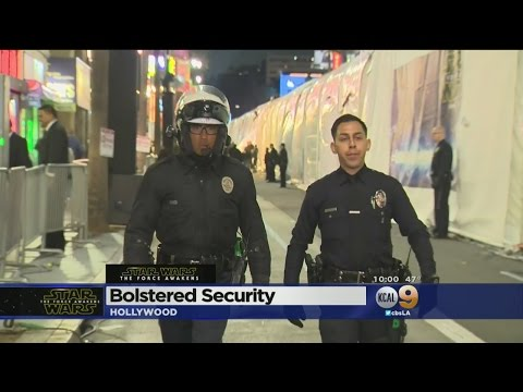 Security Extra Tight At 'Star Wars: The Force Awakens' Premiere In Hollywood