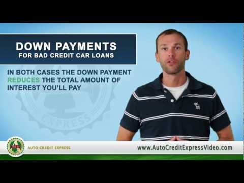 Down Payments for a Bad Credit Auto Loan