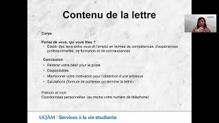 Conseils pour rédiger la lettre de présentation (3e partie)