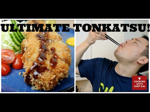 TONKATSU (deep fried pork cutlet recipe) とんかつ - Cooking with Chef Dai  / donkkaseu, schnitzel