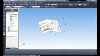 Компас 3D. Вставляем 4 вида чертежа машины в 3D.