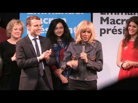 Macron rencontre avec sa femme