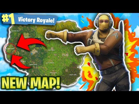 BEST PLACES TO LAND ON THE NEW MAP! FORTNITE BATTLE ROYALE NEW MAP UPDATE! (FORTNITE MULTIPLAYER)