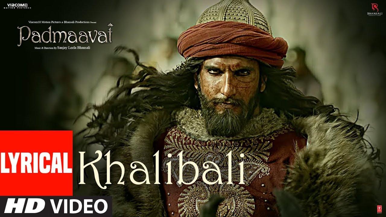Download Padmaavat: Khalibali Lyrical Video Song | Deepika Padukone | Shahid Kapoor | Ranveer Singh