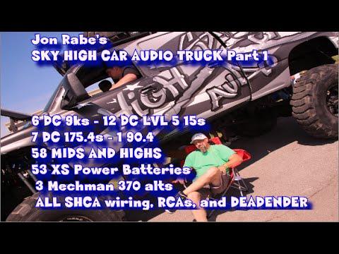 SLAMOLOGY 2014 REALTIME FOOTAGE - Jon's SKYHIGH CAR AUDIO TRUCK - 12 15s - 60K watts