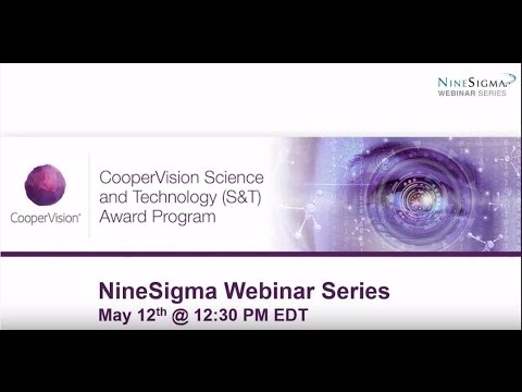 CooperVision Science & Technology Awards Innovation Contest Webinar