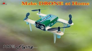How to make a Battery Quadcopter (Drone) at home Very easy