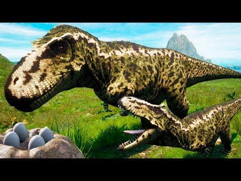 Família T-REX! Ovos de Tiranossauro + Filhote! TEMPESTADE SINISTRA! | Beasts of Bermuda [#1] | PT/BR