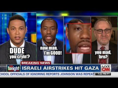 Marc Lamont Hill Starts Crying on Air After Alan Dershowitz Spanks Him in Israel Debate