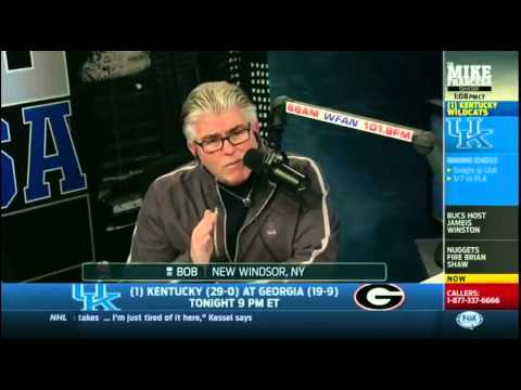 Mike Francesa caller: Bet 50-1 UK would go undefeated (British Zaun)