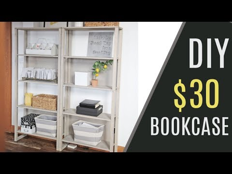 DIY - $30 DIY Industrial Bookcase