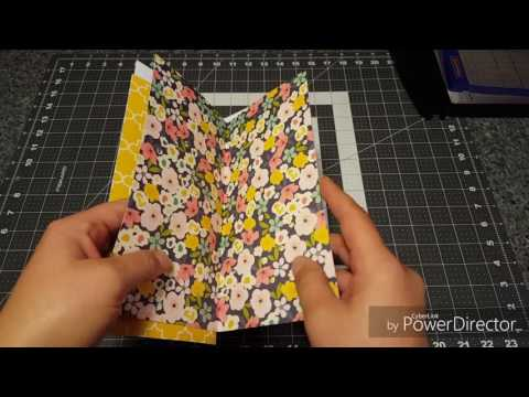 Traveler's notebook insert scrapbooking process video