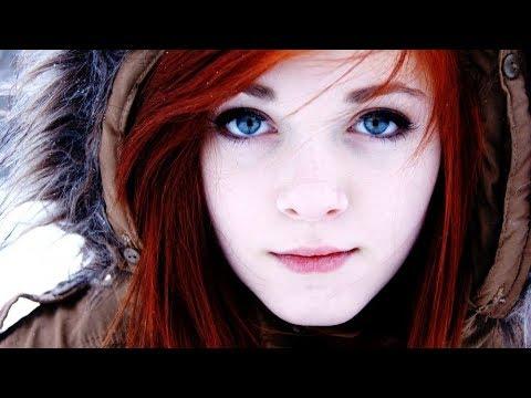 Redhead Model Blue Eyes Face Portrait Tiny4K 1