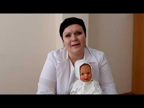 О купании новорожденного рассказывает зав. отделением новорожденных ГБУЗ МО КГБ №1 Виктория Якимова
