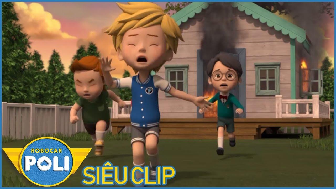 Siêu Xe Cứu Hộ Siêu Clip #13 - Poli và Các Bạn Roy, Helly, Amber - Phim hoạt hình Xe Biến Hình