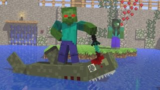 Monster school Girls vs Boys: Killing The Shark - Minecraft Animation
