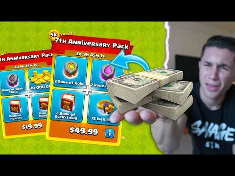 SPENDING TOO MUCH MONEY IN CLASH OF CLANS!