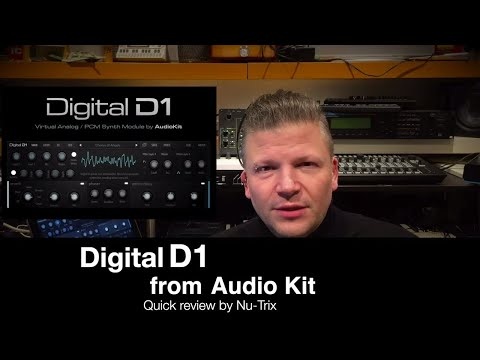 Audiokit Digital D1 iPad synth quick review and preset playback
