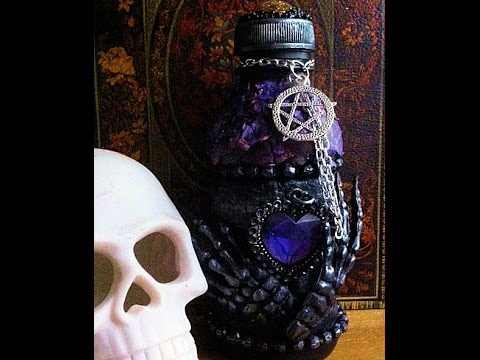 Altered bottle blessed be gothic halloween ornaments #Gothica