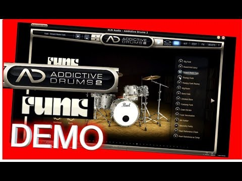 funk adpak demo addictive drums 2 xln audio youtube. Black Bedroom Furniture Sets. Home Design Ideas