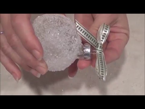 Epsom Salt Ornament Tutorial - Epsom Salts Can Turn Powdery Over Time - See Description.