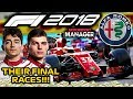 CHAMPIONSHIP DECIDER! NEW DRIVER LINE-UP ANNOUNCED! - F1 2018 Alfa Romeo Manager Career Part 80