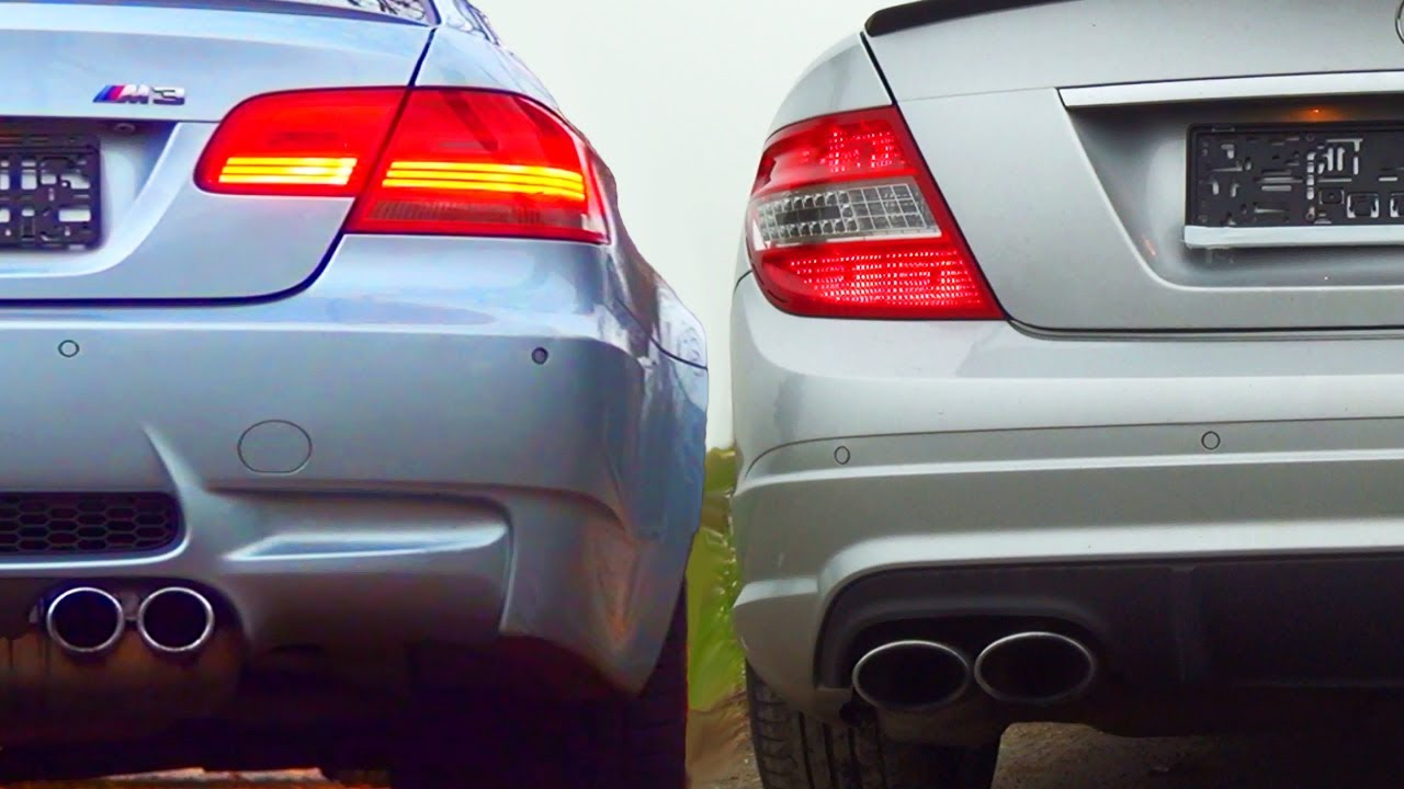 Mercedes C63 Amg Sound Vs Bmw M3 E92 Exhaust Sound The