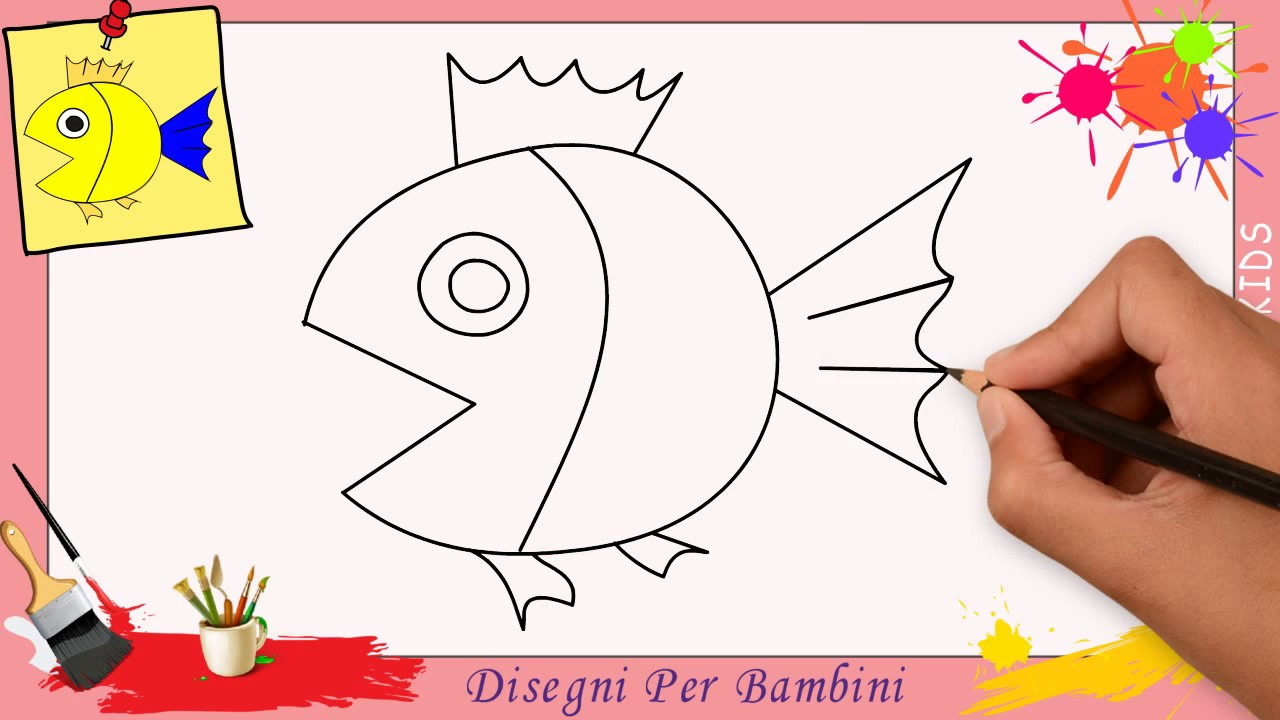 Disegni di pesci facili per bambini come disegnare un for Disegni di natale facili per bambini