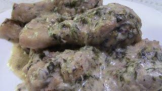 Куриное мясо в сметанном соусе. Просто и очень вкусно!