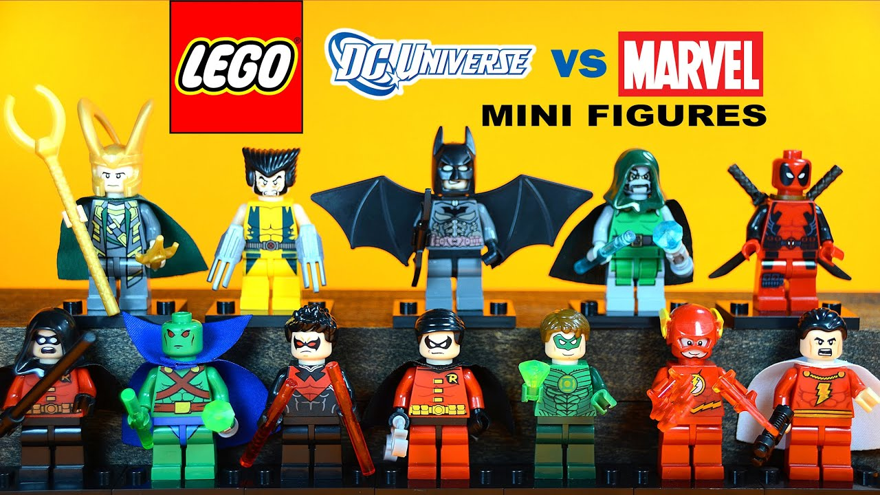 LEGO Marvel vs DC Superheroes KnockOff Minifigures w ...