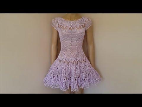 How to crochet a dress - Lace crochet dress - Part 1
