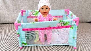 Как МАМА Поймала Беби Анабель и Посадила в Манеж Куклы Пупсики 108мама тиви