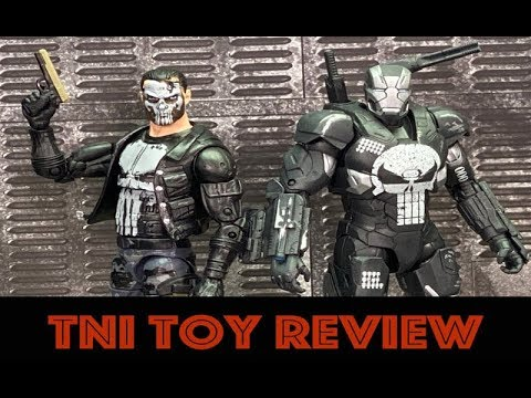 """Marvel Legends 6"""" Punisher War Machine And Punisher In Camo Gear Figures Review"""