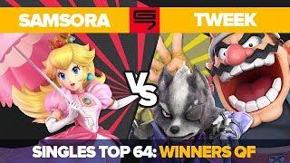 Samsora vs Tweek - Ultimate Singles: Top 64 Winners Quarterfinal - Genesis 7 | Peach vs Wario, Wolf